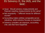 eu solvency ii the iais and the naic30