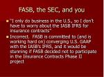 fasb the sec and you