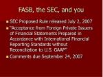 fasb the sec and you25