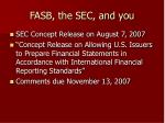 fasb the sec and you26