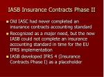 iasb insurance contracts phase ii