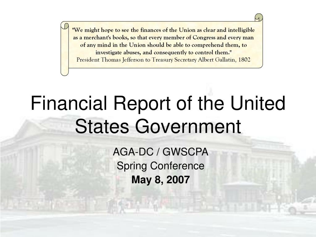 financial report of the united states government l.