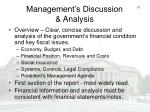 management s discussion analysis
