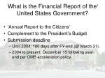 what is the financial report of the united states government