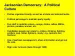 jacksonian democracy a political culture