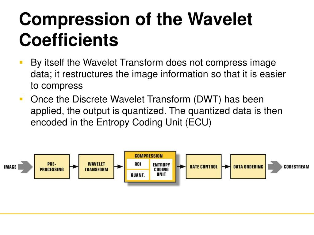 Compression of the Wavelet Coefficients