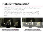 robust transmission
