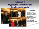 district 4 highlights transportation leadership awards