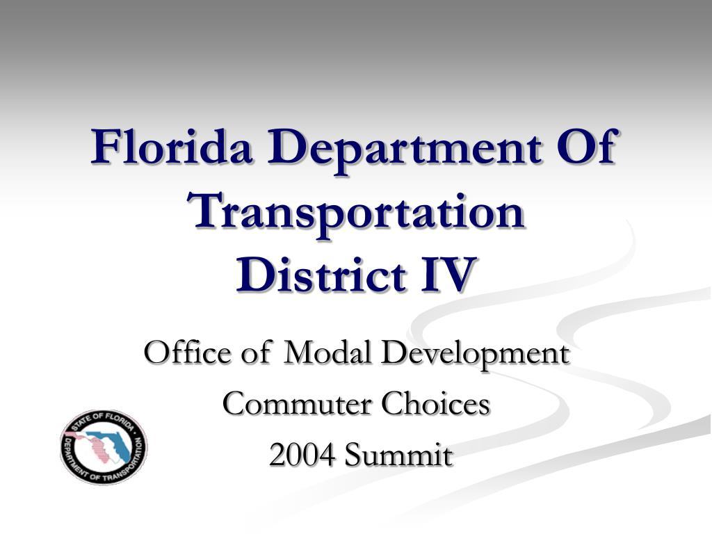 florida department of transportation district iv l.