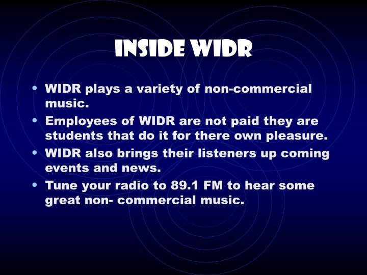 Inside widr