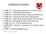additional studies