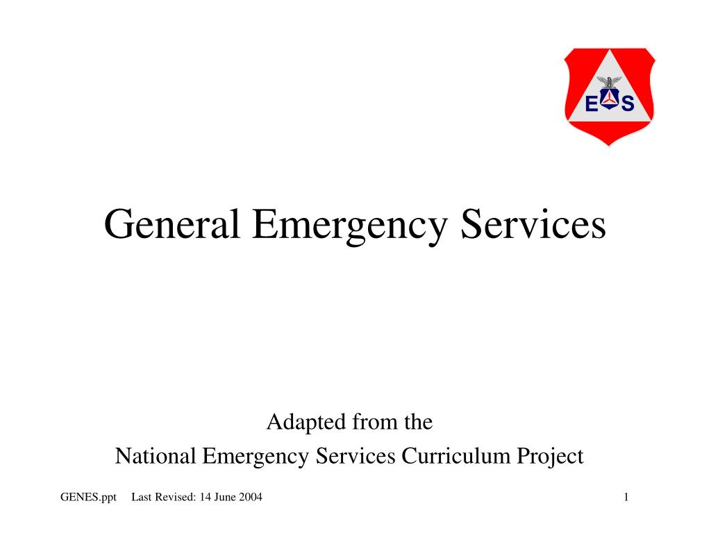 general emergency services l.