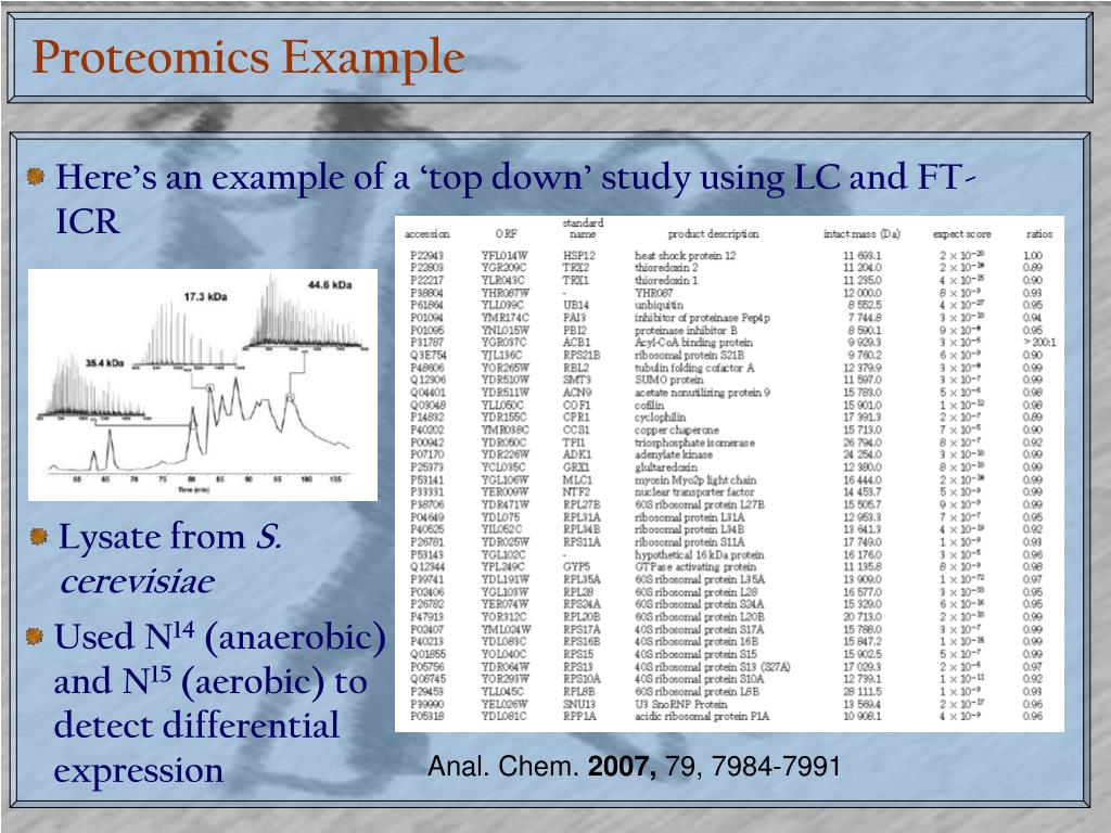 Proteomics Example