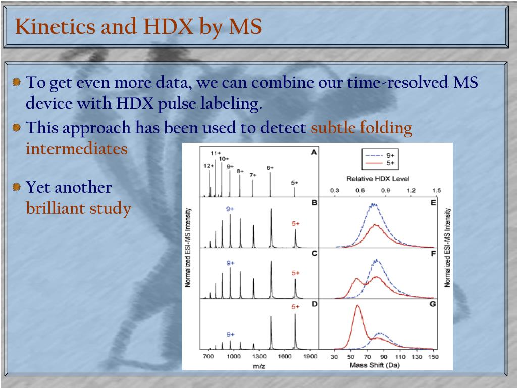 Kinetics and HDX by MS