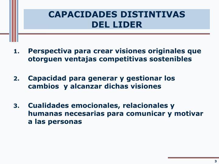 Capacidades distintivas del lider
