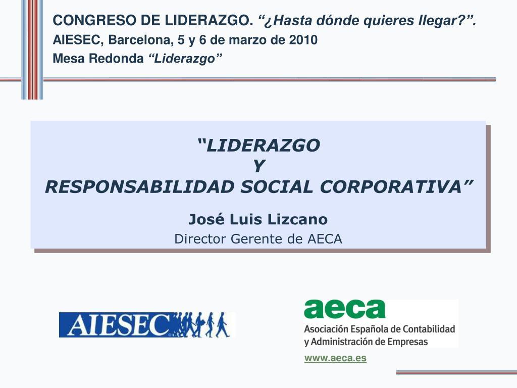 CONGRESO DE LIDERAZGO.