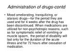 administration of drugs contd6