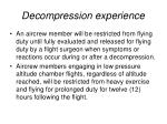 decompression experience