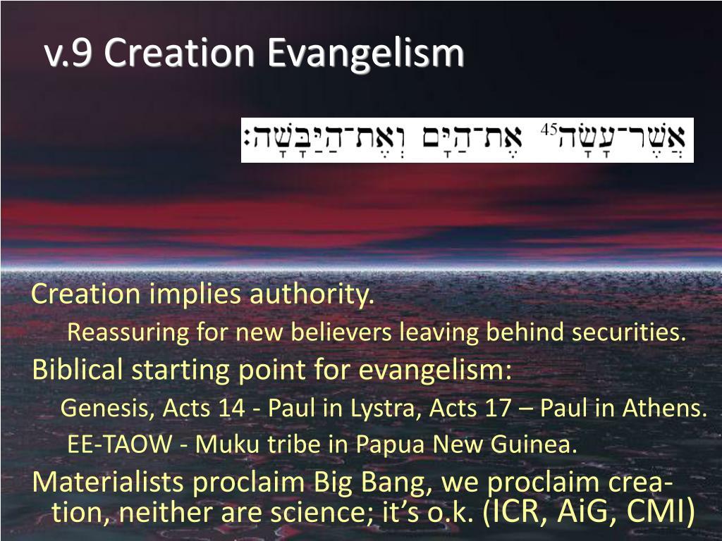 v.9 Creation Evangelism