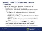 appendix 1 rnp saaar instrument approach procedures