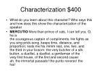 characterization 400