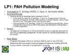 lp1 pah pollution modeling