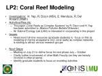 lp2 coral reef modeling