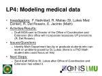 lp4 modeling medical data