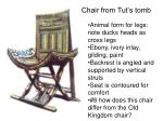 chair from tut s tomb