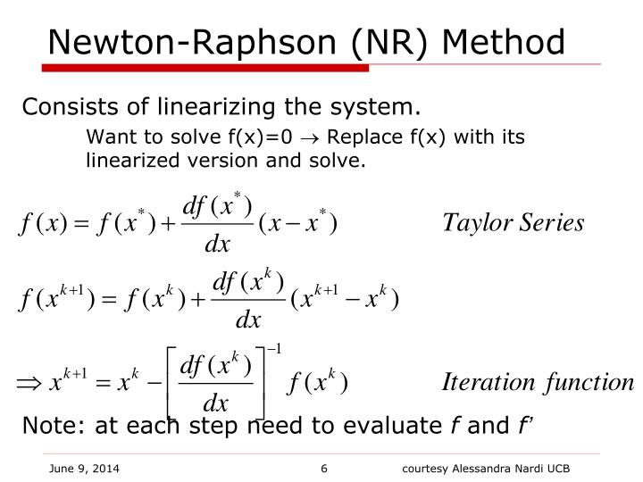 Newton-Raphson (NR) Method