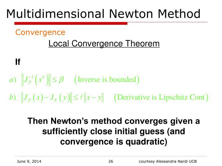 Multidimensional Newton Method
