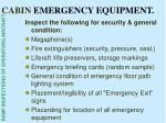 cabin emergency equipment39