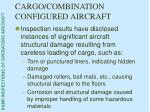 cargo combination configured aircraft