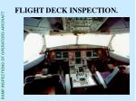 flight deck inspection