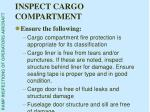 inspect cargo compartment