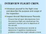 interview flight crew