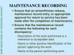 maintenance recording31