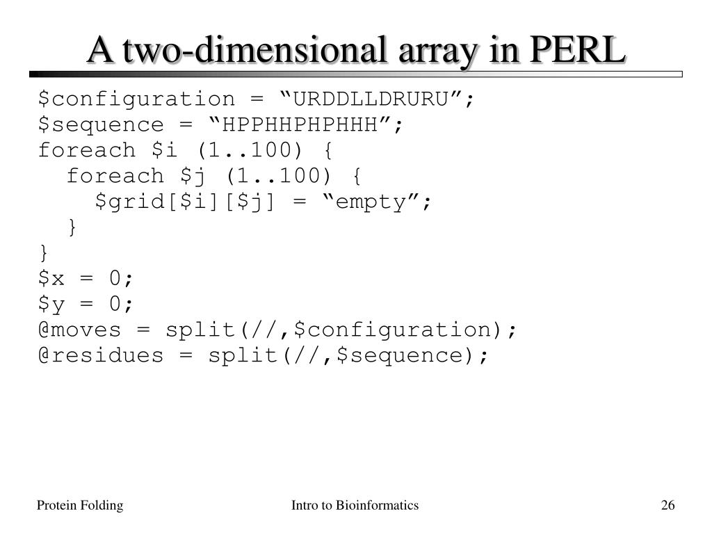 A two-dimensional array in PERL