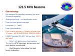 121 5 mhz beacons