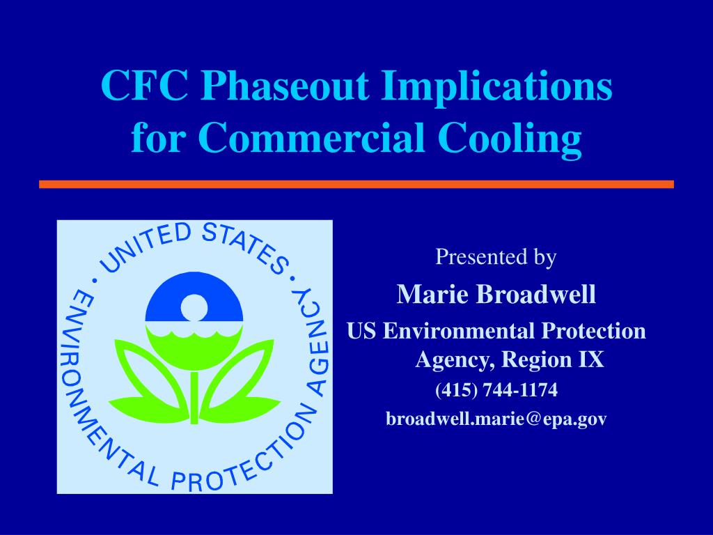 cfc phaseout implications for commercial cooling l.