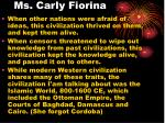 ms carly fiorina
