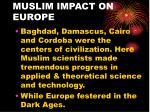 muslim impact on europe