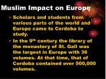 muslim impact on europe1