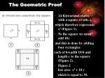 the geometric proof
