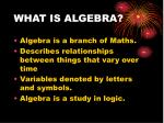 what is algebra