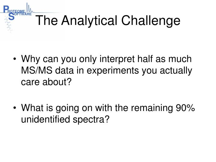 The analytical challenge1