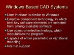 windows based cad systems