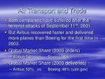 air transport and trade