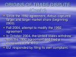 origins of trade dispute cont d1