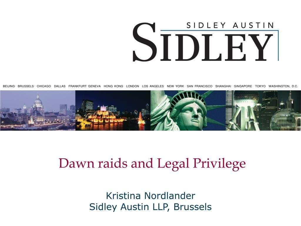 dawn raids and legal privilege l.